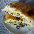 冬の味覚牡蠣サンドの極旨焼きおにぎり版