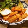 昆布〆の秋鮭フライ