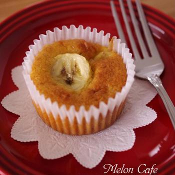 くらしのアンテナに掲載されました☆ホットケーキミックスで作る「はちみつバナナのカップケーキ」