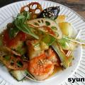 海老と季節野菜の温サラダ