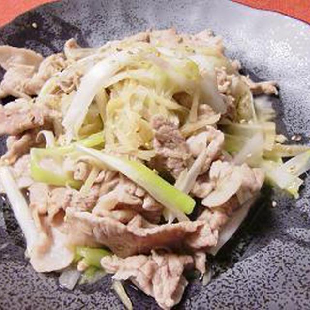 1月のチャイニーズは 豚肉のねぎ・生姜炒め