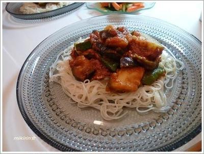 ツナとズッキーニのイタリアンお素麺☆