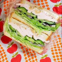 11/19(木)低温調理のとりはむとレタスのサンドイッチ弁当