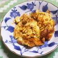 ブロッコリーの茎の中華風卵焼き