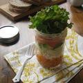 筍入り アボカド、サーモン、クリームチーズのジャーサラダ♪ by カシュカシュさん