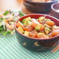 ごま油香るアヒポキ丼&ガーリックシュリンプサラダのランチ by アップルミントさん