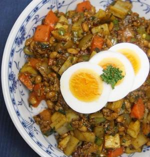 野菜たっぷりネバネバキーマカレー