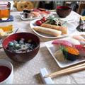おうちランチ☆お寿司とポテト春巻き