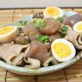 コンニャクと豚ばら肉の煮物