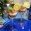 簡単パーティー料理! まぐろと長芋のグラスタルタル