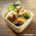 ゴロゴロさつまいもと白菜のおにぎり~さんばんと公園のお弁当~ by YUKImamaさん