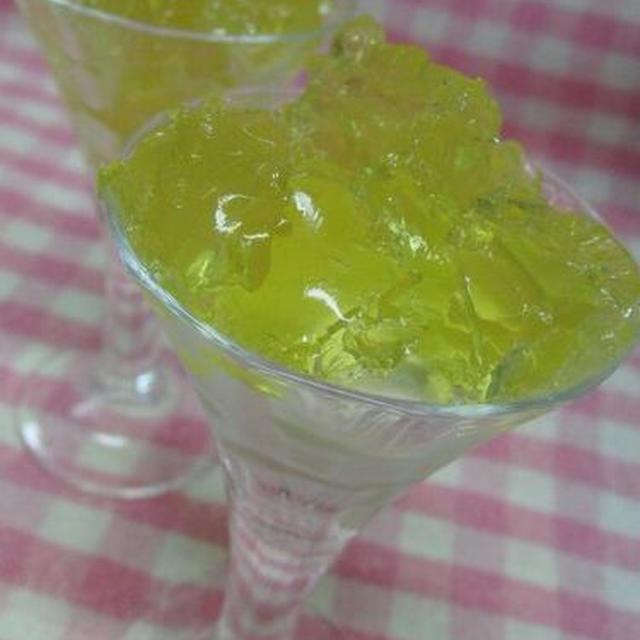 これも美味しかった♪ スッキリ爽快☆ 緑茶ゼリー
