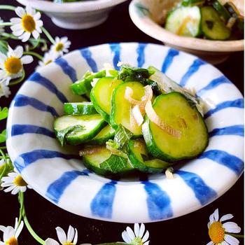 ✴︎涼しい副菜✴︎しょうが香るキュウリの香味漬け