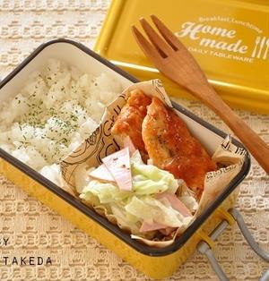 【節約弁当】鶏むね肉もしっとり♪チキンBBQソテー弁当