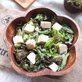 レタスと豆腐の甘酢サラダ