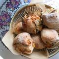おあさのりと桜えびの香り良く。ミニパン風に焼いて作る「ゼッポリーニ」。 by イェジンさん
