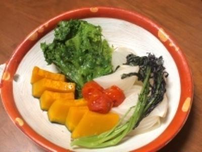 春野菜の「オイル蒸し」☆