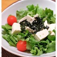 わかめスープドレッシングのサラダ