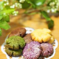 レンジでサクサク!野菜パウダーで4色クッキー