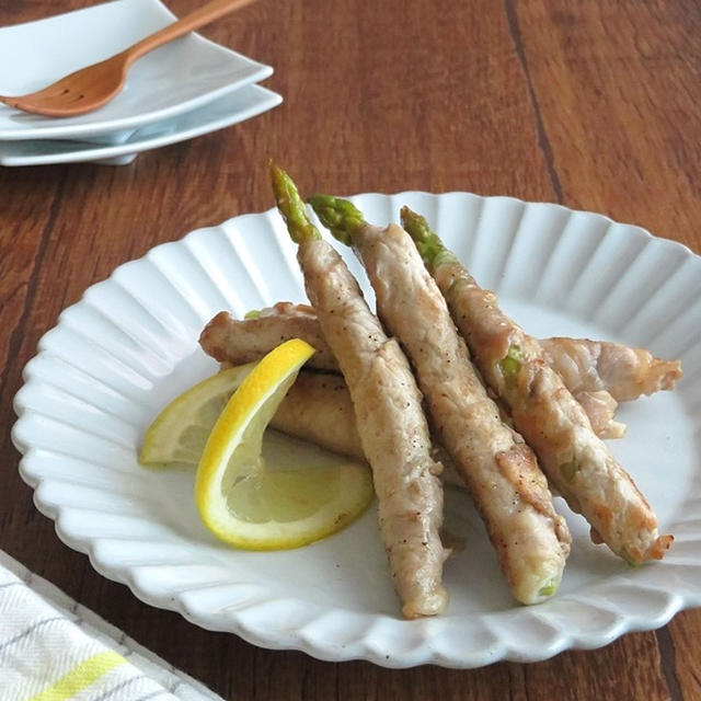 食欲UP☆ごはんがすすむ◎アスパラの肉巻き旨塩レモン炒め