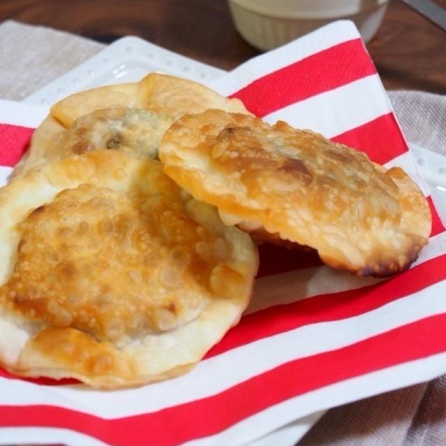 【切り餅アレンジレシピ♪海苔チーズと餅の醤油揚げ餃子♪おつまみやおやつに〜】