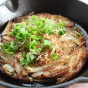 スキレットで長芋の和風ガレット、焦がししょうゆ味♪ by おんちゃん母さん