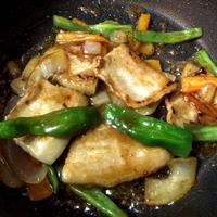 豚肉とピーマンの炒め物☆お野菜混ぜ合わせかんたん調味料@マルトモ