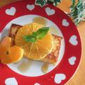 子供と作る朝ご飯♪ 「オレンジ&メープル♡フレンチトースト」 「マンゴーのフレンチトースト♪」