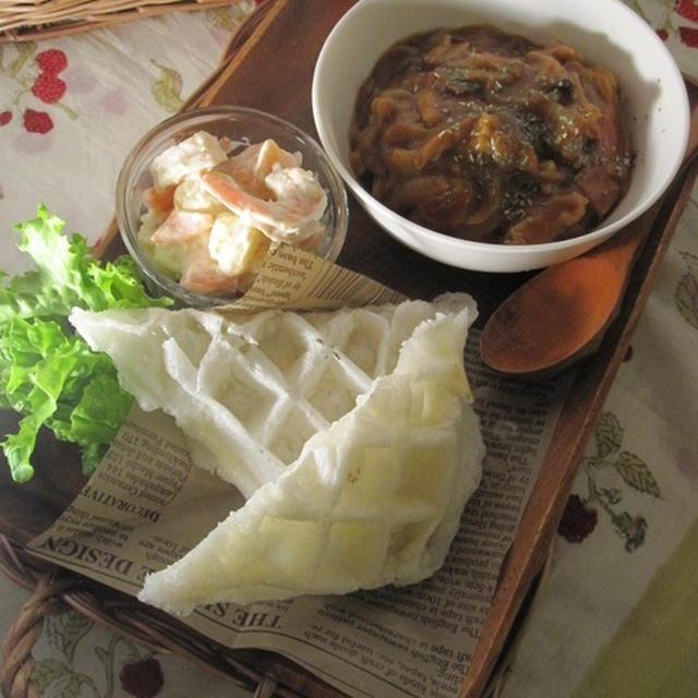 チーズinモッフルと二日目カレー