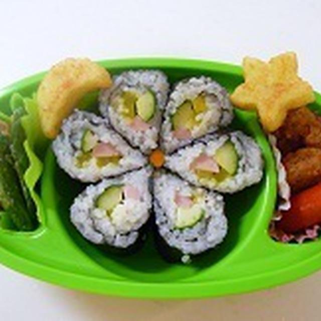 飾り巻き寿司 のの字のお弁当 飾り巻き寿司レッスン7月 JEUGIAカルチャー千里