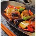 具だくさんの酢豚を肉団子で♪お野菜で元気を出そうメニューな夜飯メニュー。