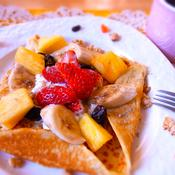 フルーツヨーグルトのパンケーキガレット