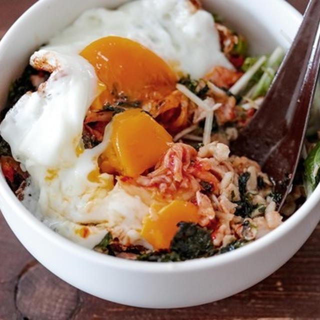 【ダイエット飯】ナムル風サラダ活用♡即席オートミールビビンパ#7