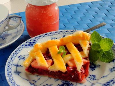 冷凍パイシートを使って、ルバーブのリンゴパイとリンゴジャム☆「俺の割烹」で月一外食~♪