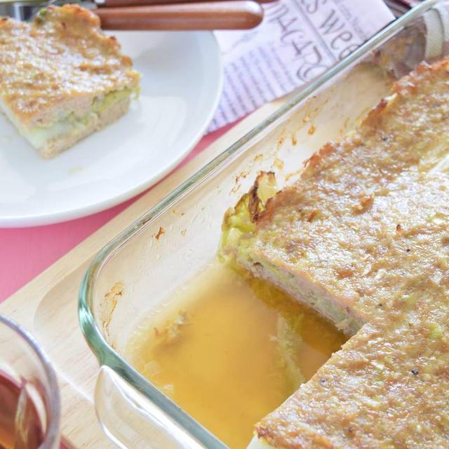 鶏ひき肉と白菜のガーリックミルフィーユ風【スパイス大使】GABANあらびきガーリック