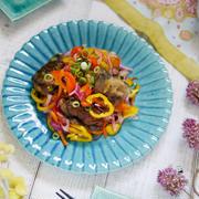 夏野菜レシピ☆素材が活きた仕上がりに♪【夏野菜と秋刀魚のカラフル南蛮漬け】