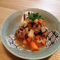 根菜と一緒に食べやすく☆和風あんかけハンバーグ