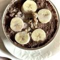 朝ごはん*バナナ&くるみ、ココアSOYミルクオートミール