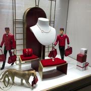 Cartierのクリスマスディスプレイ