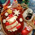ハンバーグのっけクリスマス弁当