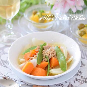 【おもてなし】ツナと野菜のコンソメスープ煮込み ホッとする煮込み料理