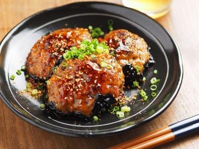 秋刀魚蒲焼きと鶏肉の磯辺焼き