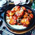 韓国レシピ色々~❤️と、こりゃたまらん❤️おかわりがとまらない♪チーズヤンニョムチキン❤️