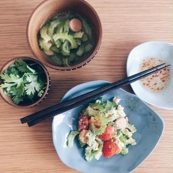 中華スープの素で簡単 ゴーヤのスープ
