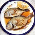 魚の煮付け(生姜とお酒で臭みなし)釣ったイボダイ?煮付け