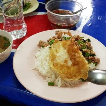 """【飲食店】ガパオと他メニュー一覧@フジスーパー1号店近くの大衆食堂~注文方法、場所等/Food Stall """"ตาไทย(Ta Thai)"""" near UFM FUJI super 1 in Bangkok, Thailand"""