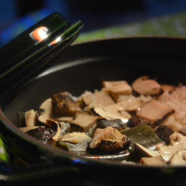 ストウブで「松茸ご飯」