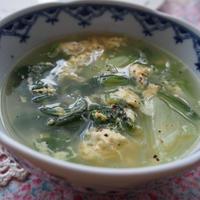 鶏ガラスープで簡単★青梗菜と春雨の卵スープ♪