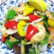 カラフル野菜と帆立のこっこdeイタリアンハーブ炒め