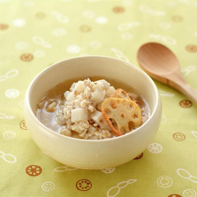 鶏れんこんの中華風スープ